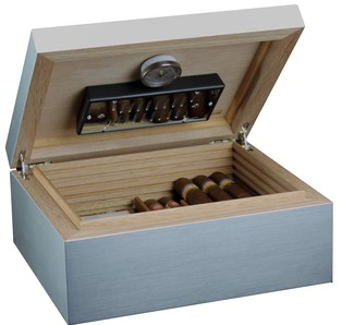 Humidor / Umidificatore alluminio medium - Deluxe