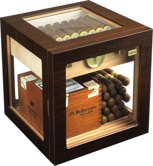 Humidor Cube Deluxe Walnut