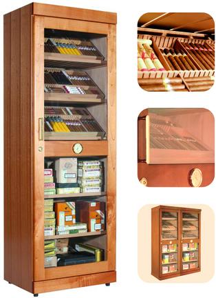 Humidor / Umidificatore adorini Roma (cedro) electronic cabinet humidor