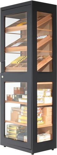 Humidor / Umidificatore adorini humidor cabinet Capri black - Deluxe